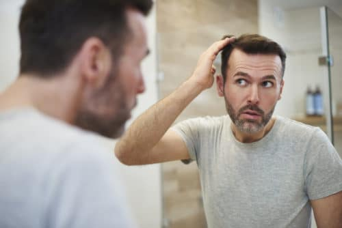Mature men is worried about hair loss | PRP Hair Restoration